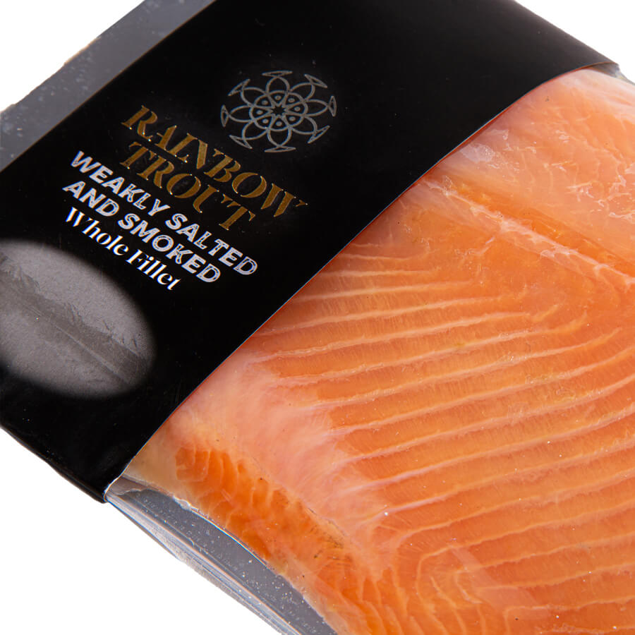 Rainbow trout Weakly salted and smoked Whole fillet